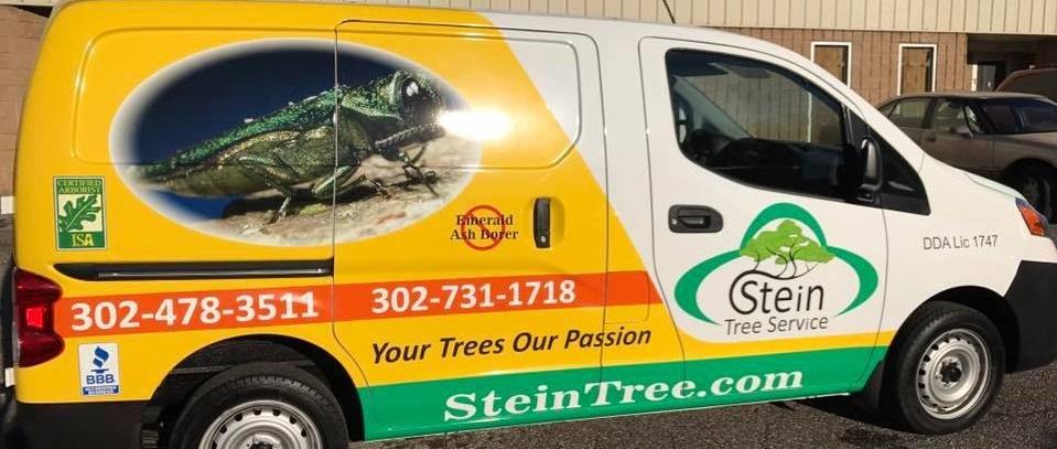 Stein Tree Service van banner image - 960