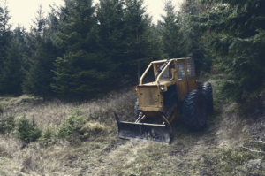 backhoe-during clearing for construction - Stein Tree Service